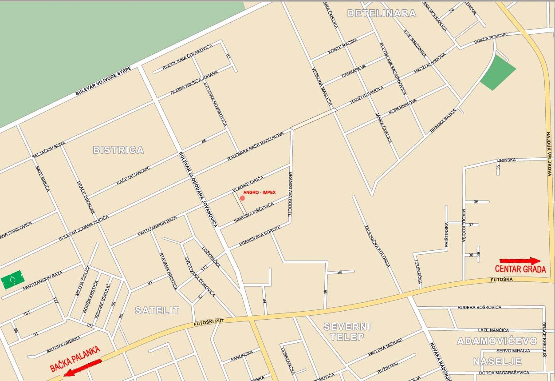 mapa novog sada ulice Angro   Impex d.o.o. location mapa novog sada ulice
